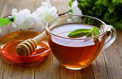 お茶、お酢と蜂蜜で作るデトックスティー