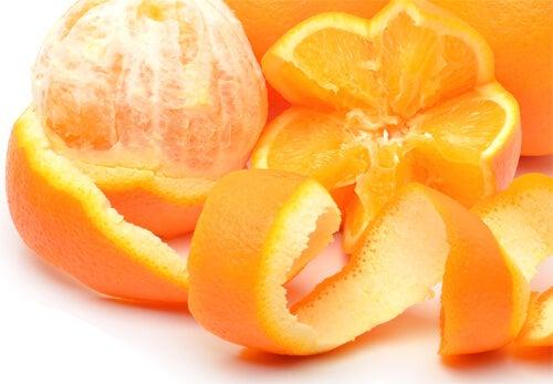 オレンジ-皮
