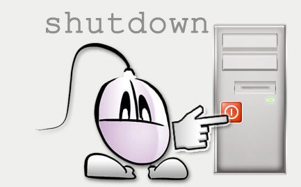 コンピューターを消してストレス解消