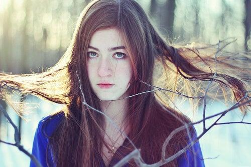 5-乾燥した髪