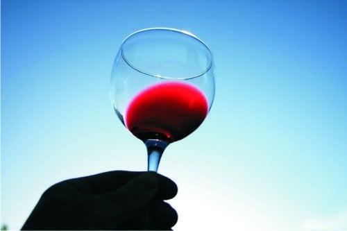 赤ワインと空