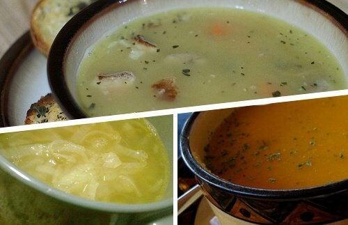三種類の デトックス・スープ