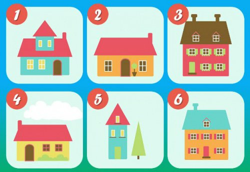 心理テスト:あなたは6つの家どれを選びますか