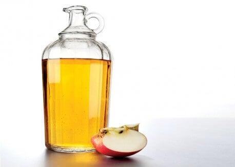 瓶に入ったリンゴ酢