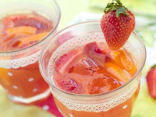 イチゴのジュース