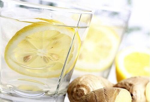 レモンと生姜ドリンク