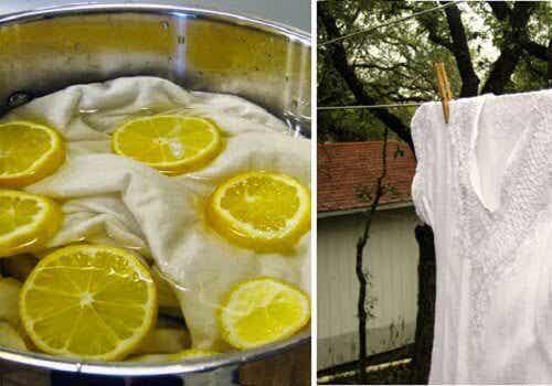 漂白剤を使わずに洋服を白くする/5つの方法