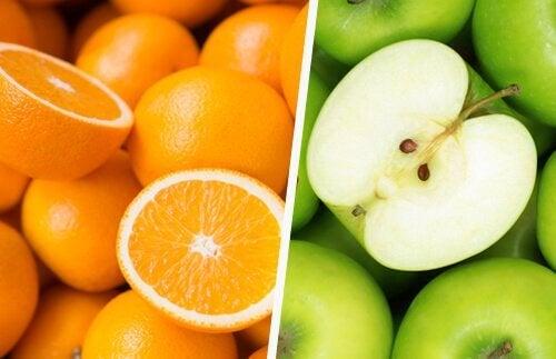 オレンジとりんご