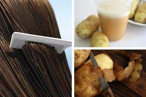 ジャガイモ液で髪をきれいに