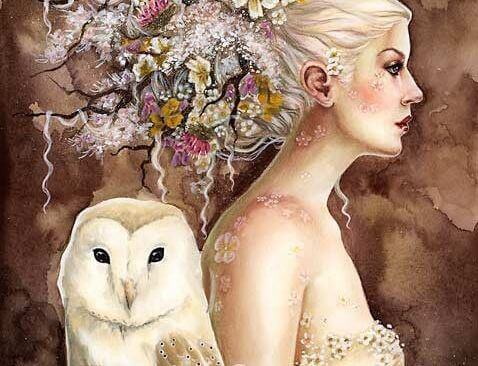 Woman-with-an-owl
