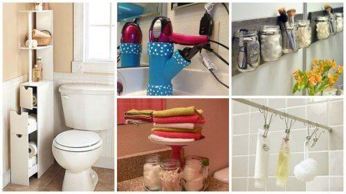 トイレやバスルームの狭い空間を/利用する19の方法