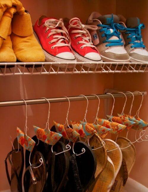 クローゼット内の靴の収納方法
