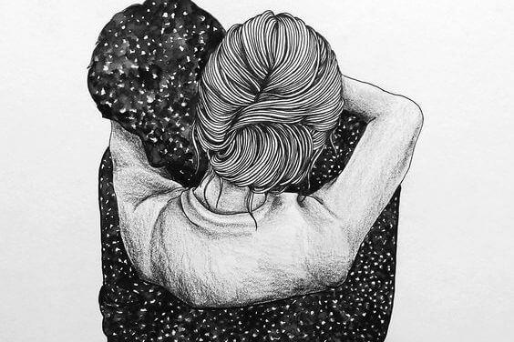 強く抱きしめて、不安を取り去って