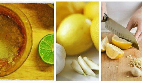 ニンニクとレモンで/ぽっこりお腹を引き締める