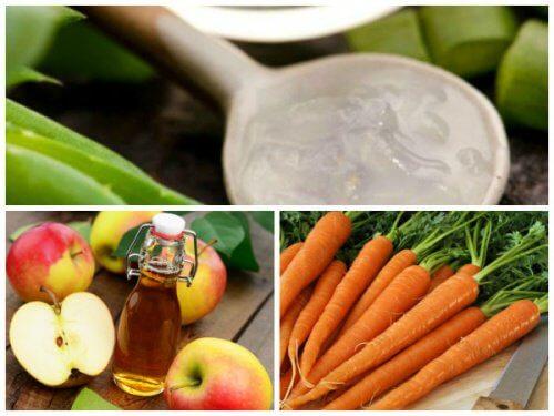野菜とアロエとフルーツ