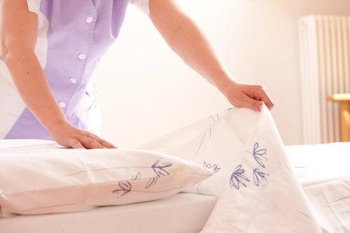 ベッドの掃除