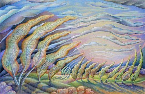 風と木の絵