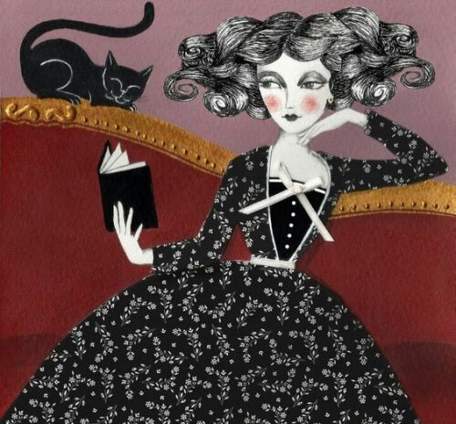 woman-with-black-cat