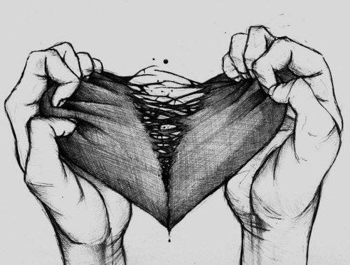 心が裂ける