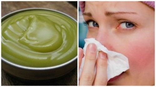 痰や鼻づまり解消に役立つ自家製軟膏