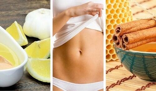 平らなお腹を手に入れる自然療法5選