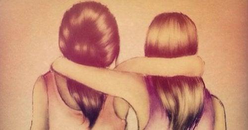 友達は重荷を軽くし/幸せを倍増してくれる存在