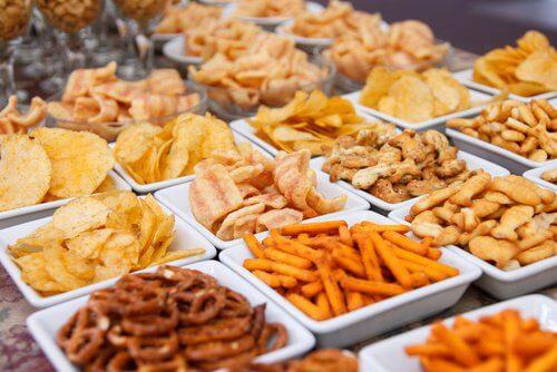 Various junk food
