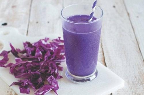 紫のスムージー