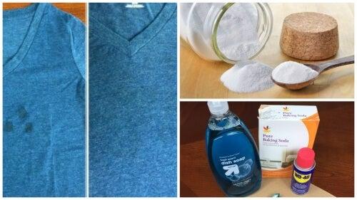 油汚れがついた衣類を捨てる前に試したいシミ抜き法