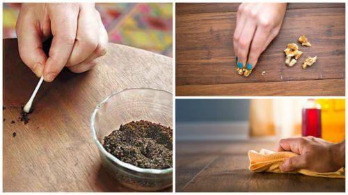 木製家具についた傷を消す8つの裏技