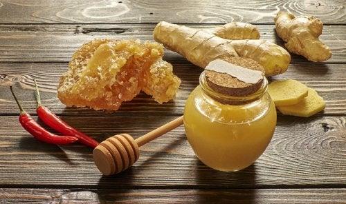 赤唐辛子と蜂蜜