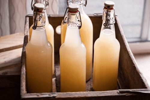 Bottles of ginger beer