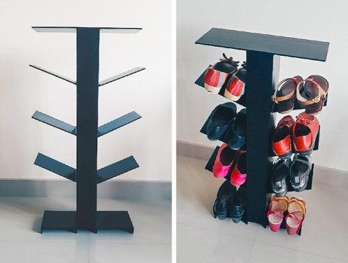 靴の収納-垂直スタンド