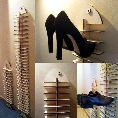 靴の収納-壁収納