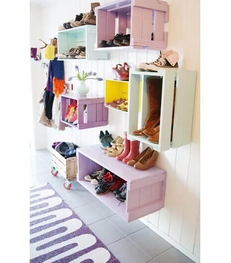 靴の収納-木箱