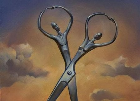 scissors of a couple