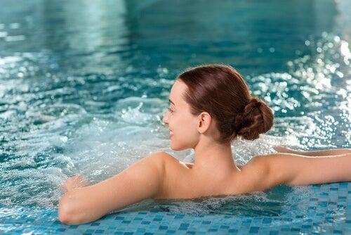 Woman in a pool