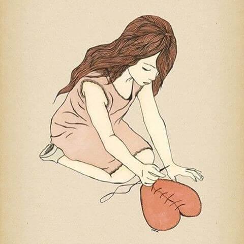 心が傷ついた女の子