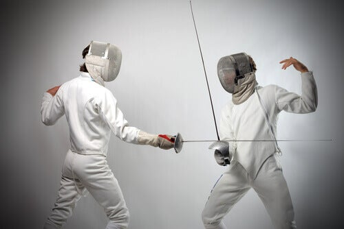 Playing fencing