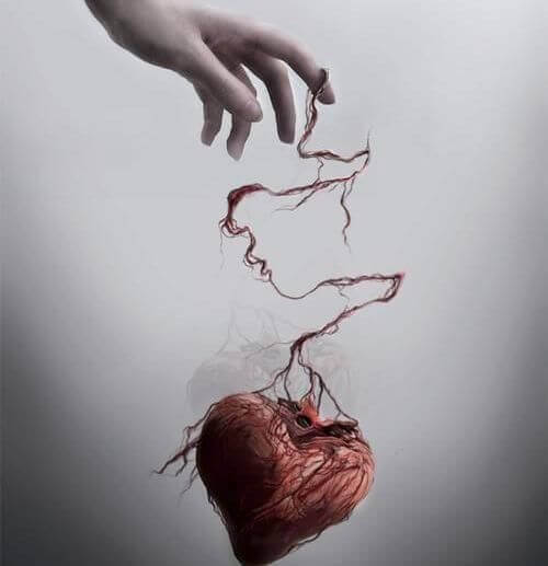 A heart coming loose