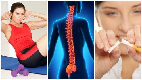 背骨を強く健康に保つ8つのヒント