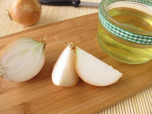 onions and oil