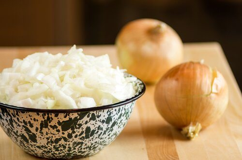 fine pieces of onion