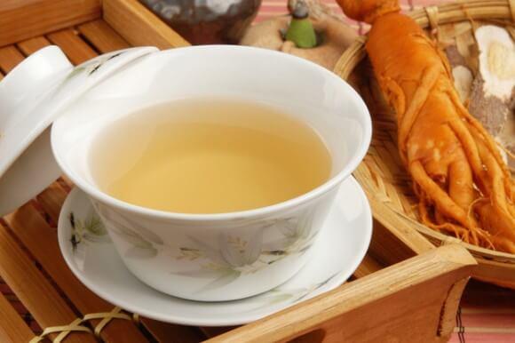 朝鮮人参とお茶