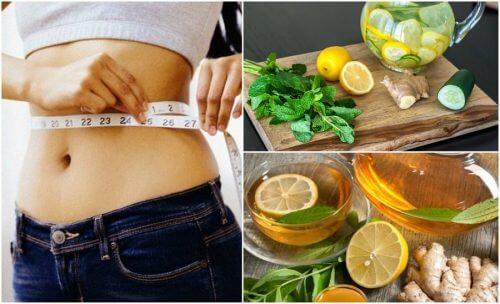 ショウガとレモンを使って鼓腸を和らげ体重を減らす
