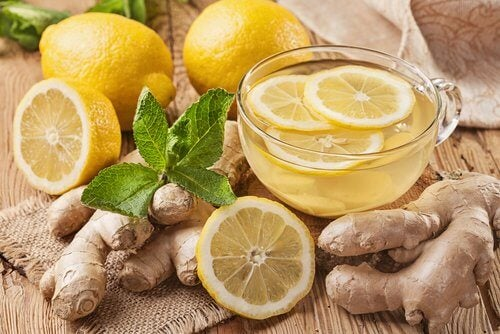 ショウガとレモンのお茶