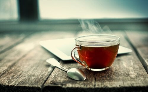 温かいお茶