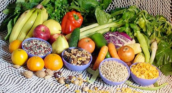 野菜果物、シリアル、ナッツ