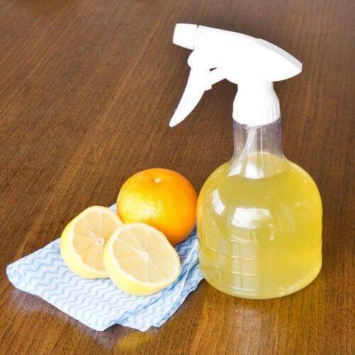 レモンのガラスクリーナー