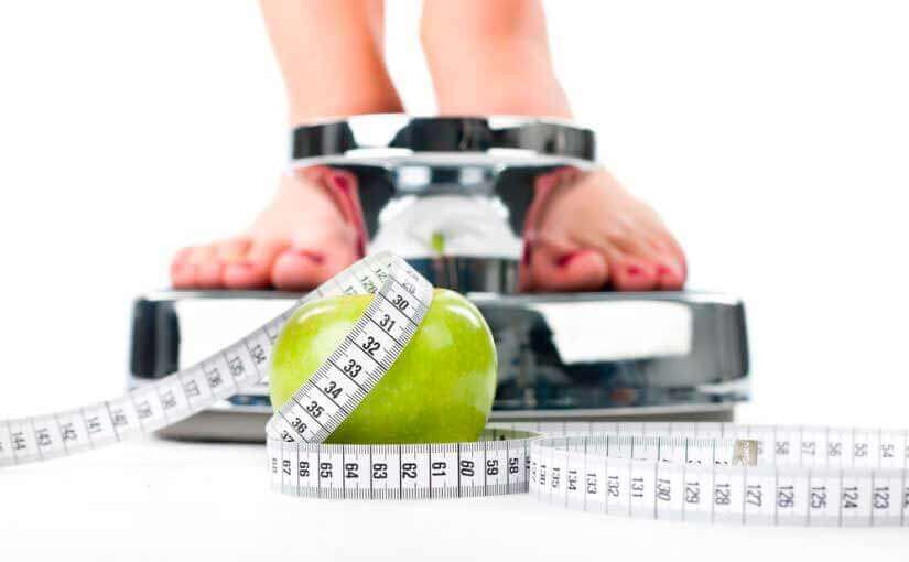 青リンゴ 体重計